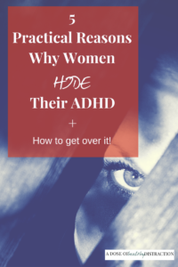 women hide their ADHD