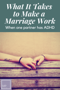 married people holding hands with ADHD