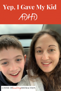 I gave my kid adhd