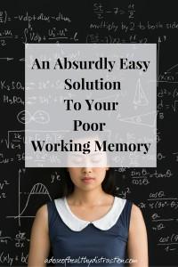 mono tasking to improve working memory