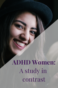 ADHD woman's face contrast