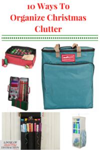 10 ways to organize Christmas clutter