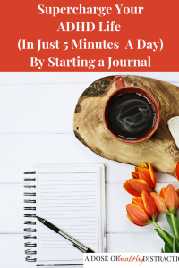 start a journal with ADHD