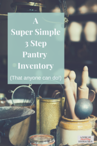 a super simple pantry inventory