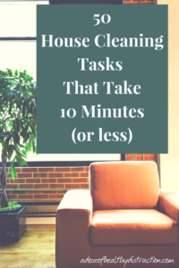 50 Super Fast House Cleaning Tasks