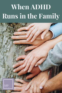 """linked hands on a """"family"""" tree"""
