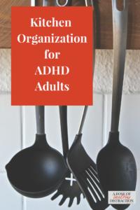 kitchen organization ADHD adults