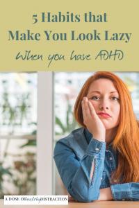 lazy ADHD habits