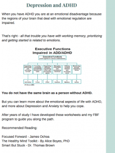 ADHD anxiety and depression workbook